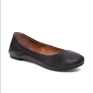 Lucky Brand Leather Black Ballet Flat Shoes 9.5